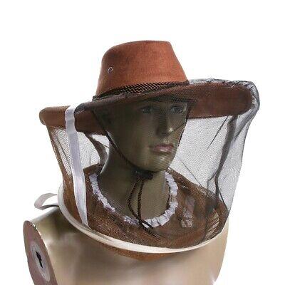 Cowboy Hat Beekeeper Bee Insect Net Veil Face Head Protector Beekeeping Us