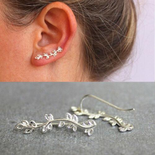 Zircone Cubique gras Incurvé Cartilage Boucle d/'oreille Fashion Statement Ear Sweep Square Ear alpinistes