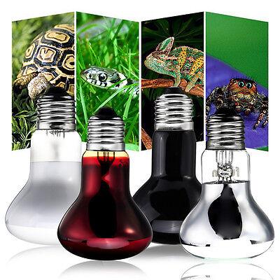 25/75/100W Emitter Heater Pet Animal Reptile Brooder Heat Day Night Light Lamp