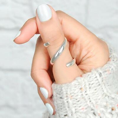 Thumb Knuckle Sterling Silver Ring for Women Arthritis Finger Splint Statement
