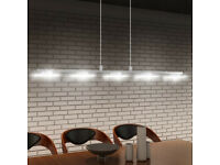 Stylish Chrome 5 LED Light Kitchen Island Pendant - Bright and Energy Efficient