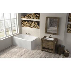 Oceania LO6631 Loft Right Drain Front And Right Skirts Bathtub W