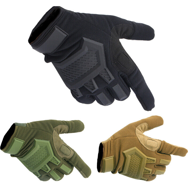 Tactical Mens Rubber Army Sports Military Hunting Antiskid Full Finger Gloves Hunting