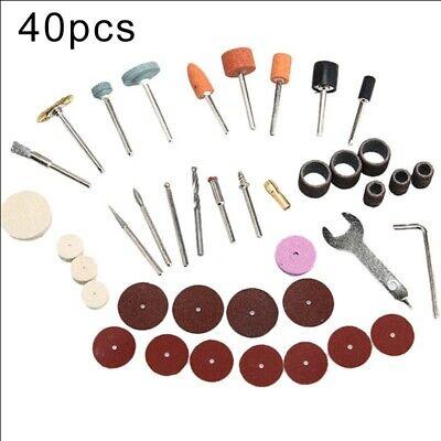 40pcs / Juego Lijado Kit for Dremel-Drill Brocas Pulido Accesorios Giratorio De