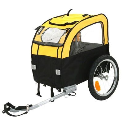 Best Dog Bike Trailer Yellow Suitable for Small Dogs up to 25kg Windows (Best Dog Bike Trailer)