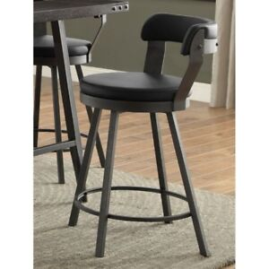 Cortez swivel counter stools, SUPER COMFY, black, red, or white