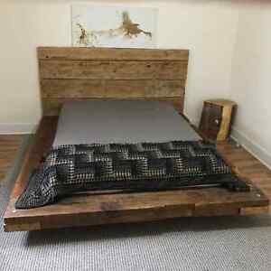 Beautiful Rustic Barn Wood Beam Queen Bed AVAILABLE NOW Kitchener / Waterloo Kitchener Area image 3