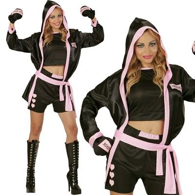 Sexy Boxer Girl Boxerin Gr. S 34/36 - Damen Kostüm Karneval Fasching #7396