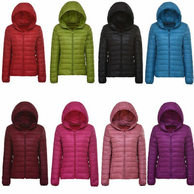 Ladies Hooded Winter Warm Down Parka Casual New Jacket Outwear Size 8 24