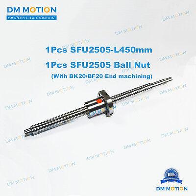 25mm Ballscrew Sfu2505 450mm Rm2505 Ballnut With Bk20bf20 End Machining Diy Cnc