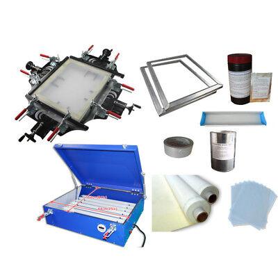 Screen Printing Plate Mkaing Machines Kit Manul Screen Stretcher Exposure Unit