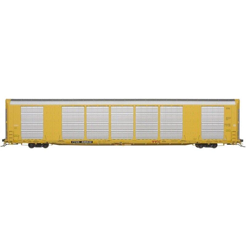 ATLAS HO 20006442 Gunderson Multi-Max Auto Rack TTX Yellow TTGX 695651