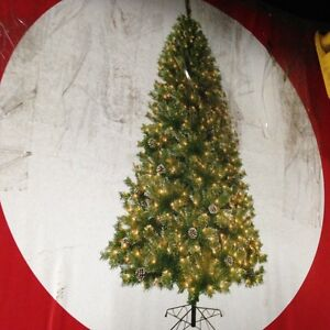 7½ ft Frosted Mountain Fir Christmas Tree