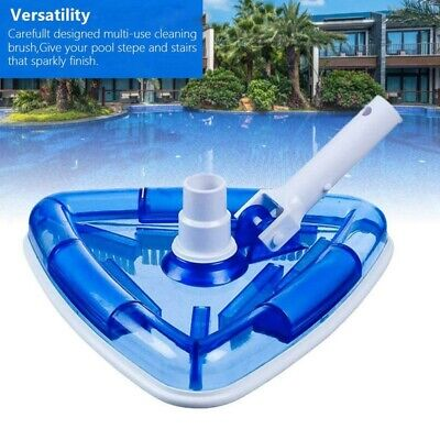 Swimming Pool Cleaner Triangular Vacuum Head with Brush for Above Ground Pool