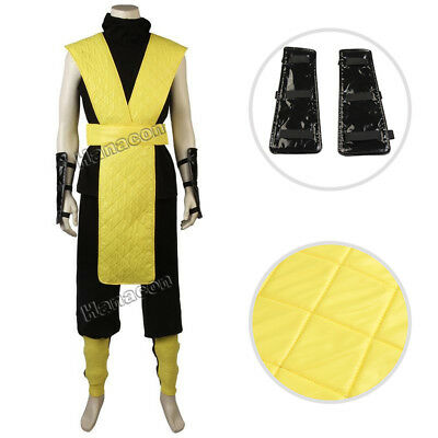 Mortal Kombat X Scorpion Cosplay Costume Raiden Ninja Thunder Outfit Full Suit