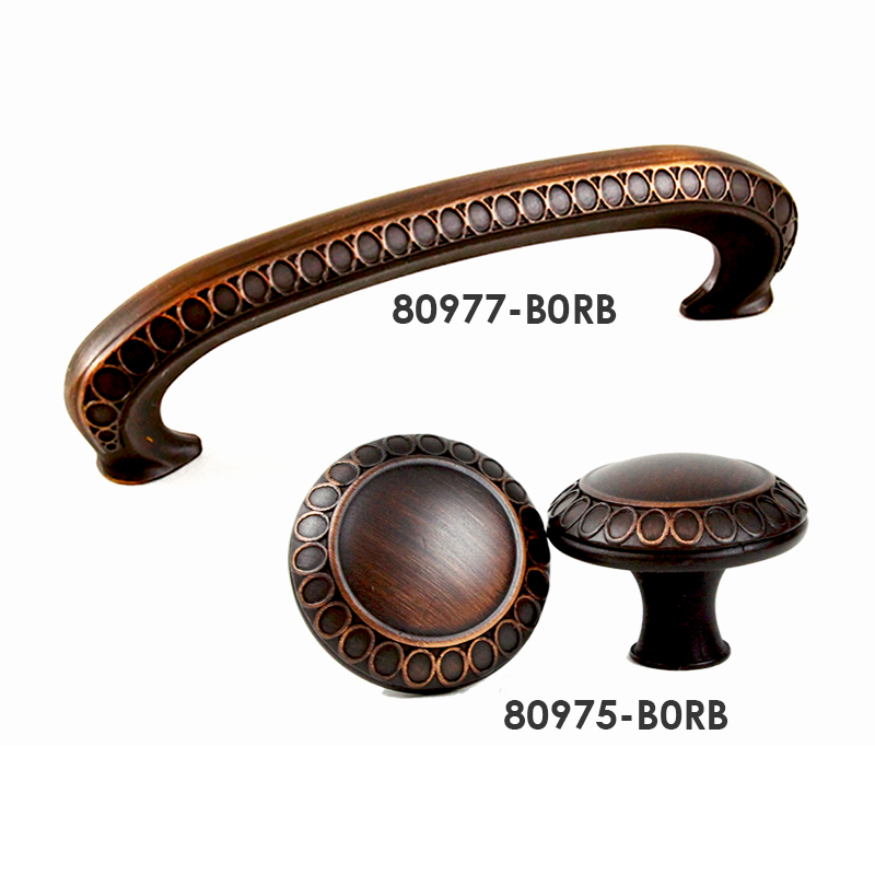 """Kitchen Cabinet Knobs And Pulls Sets: 3"""" Brush Oil Rubbed Bronze Pull And Matching Round Knob"""