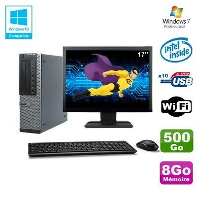 Lot PC Dell 790 DT G630 2.7Ghz 8Go Disque 500Go DVD WIFI Win 7 + Ecran 17