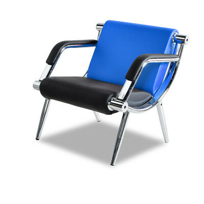 Office Receptionconference Room Chair Pu Leather Visitor Guest Sofa Seat Blue