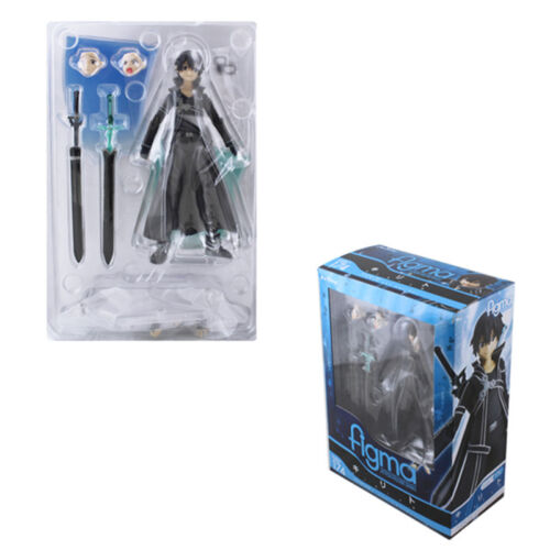 New in Box Sword Art Online Kirito Kazuto Figure SAO Collection Toys Figma 174