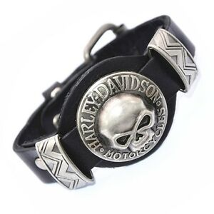HARLEY DAVIDSON LEATHER BRACELETS - RINGS - PATCHES