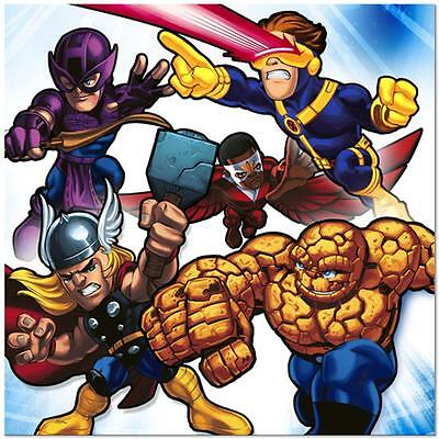 Marvel Super Hero Squad Paper Lunch Napkins Birthday Party Supplies 16 Per Pkg (Super Hero Squad Party Supplies)