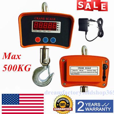 500 Kg 1100 Lbs Digital Hanging Scale Industrial Heavy Duty Crane Tare Function