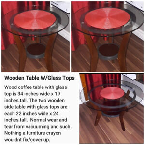 Coffee table & 2 end tables