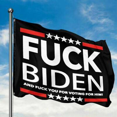USA Fuck-Biden Flag 3x5 American US Donald Trump Funny Garden Home House Banner