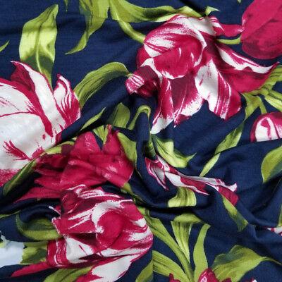 - Swirl Floral Garden Pattern on Heavy Rayon Spandex Jersey- Style P-1018-HVY-RSJ