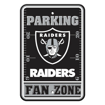 Fan Parking Sign - NFL Oakland Raiders Home Room Office Bar Decor Parking Sign Fan Zone 12