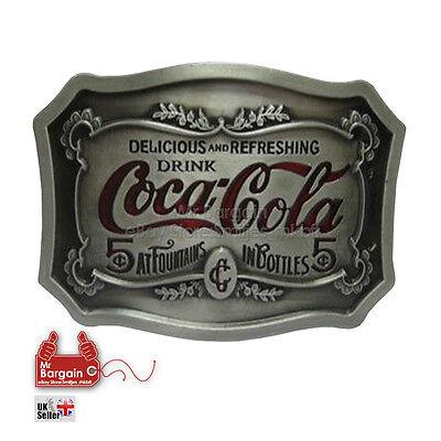 3D Coca Cola  Belt Buckle