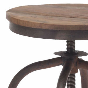 INDUSTRIAL WOODEN SEAT BAR STOOL COUNTER STOOL Peterborough Peterborough Area image 4