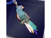 Vintage Long Exquisite Colourful Crystal bird