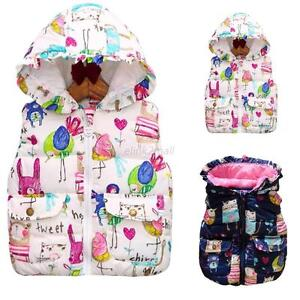Toddler-Boys-Girls-Winter-Warm-Soft-Jacket-Cartoon-Waistcoat-Vest-Tops-1-6T