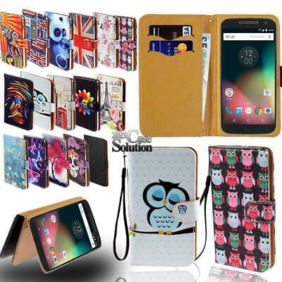 Flip Leather Card Wallet Stand Cover Phone Case For Motorola Moto G G4 G5 G6 G7