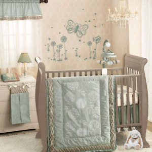 7 piece Lambs & Ivy Tiffany Crib Toddler Bedding