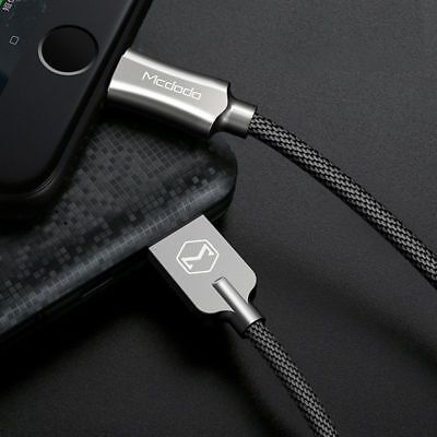 Mcdodo Lightning Nylon Braided Sync Charge Usb Data Cable For Iphone 8 X 7 6 5