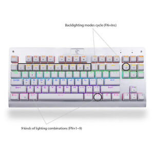 NEW Mechanical Keyboard Z-77 Blue Switches RGB Tenkeyless West Island Greater Montréal image 3