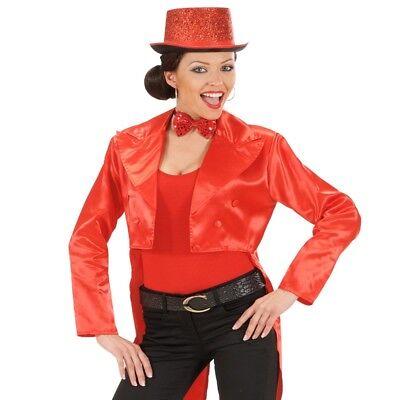 Showgirl SATIN FRACK rot Damen Kostüm Gr. 38/40 (M) Karneval Show Theater - Show Girl Kostüm