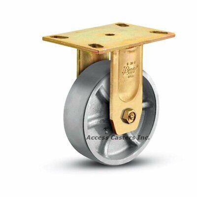 6or1-2 Bassick Honcho Rigid Plate Caster 6 X 2 Steel Wheel 1750 Lbs Capacity
