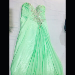 Turquoise Grad Dress