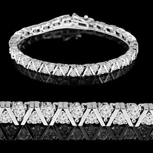14k Gold Diamond Tennis Bracelet 3.90CTW Bracelet en Diamants