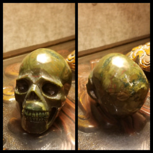 Hand carved stone skull 3.5 inches long