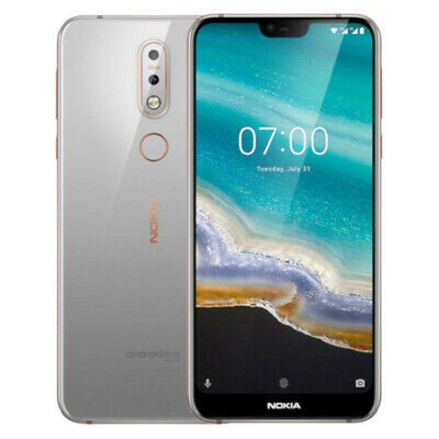 Nokia 7.1 - 64GB - Gloss Steel - (Unlocked) - Smartphone - Very Good Condition