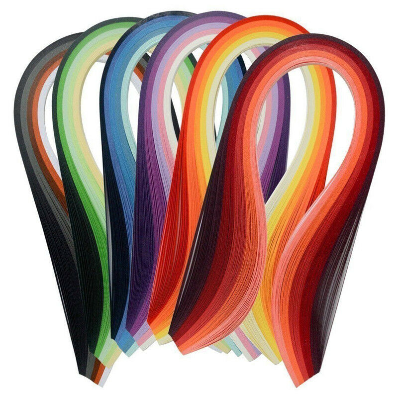 Paper Quilling Set 600 Strips Multicolor 39cm Length/3mm Width Available