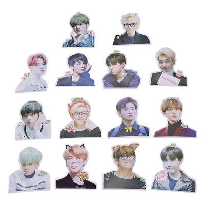 7 Pcs Set Kpop Bts Photo Stickers Diy Adhesive Album Scrapbooking Craft Fan Gift