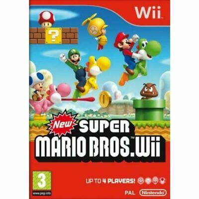 New Super Mario Bros. for Nintendo Wii PRISTINE 1st CLASS FREE and FAST Delivery