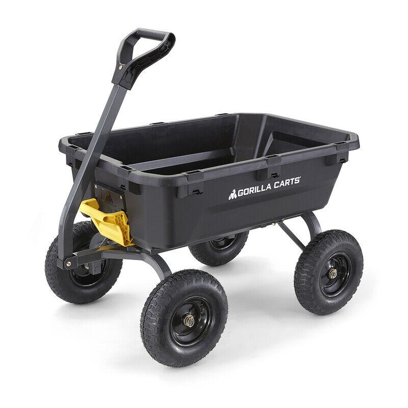 Gorilla Carts Poly Dump Cart 1200 lb. capacity -Pack of 1