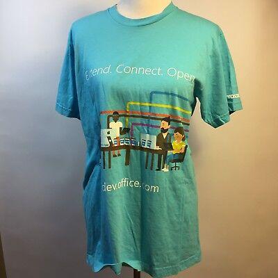 Microsoft Office 365 Windows T Shirt Dev Office Com Graphic Unisex Blue Top Sz L