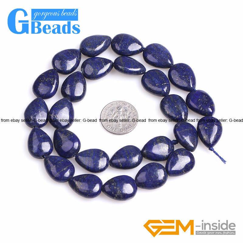 Blue Lapis Lazuli Gemstone Drip Teardrop Beads For Jewelry Making Free Shipping